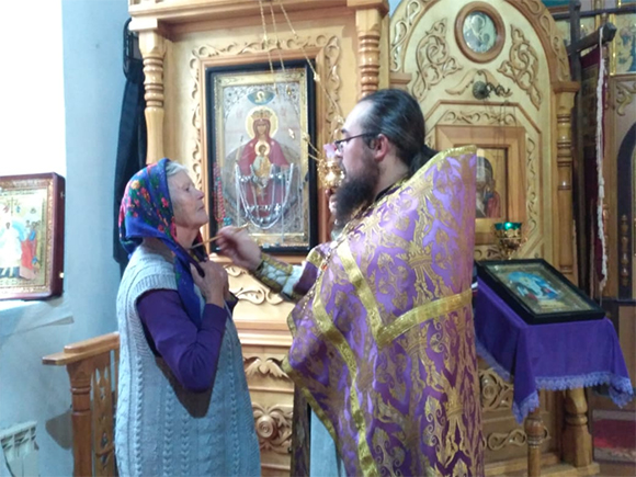 Молебен пред иконой Божией Матери
